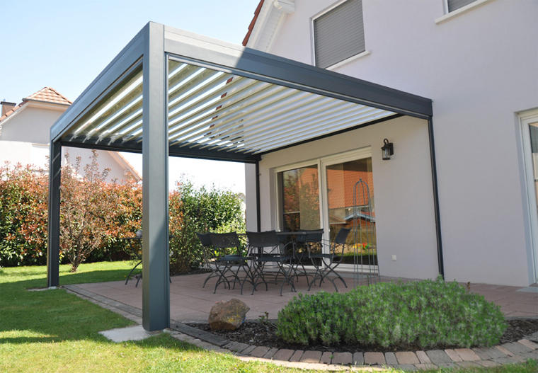 Pergola bois lame orientable for Store exterieur lame orientable