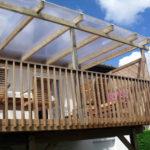 Pergola bois avec toiture polycarbonate