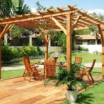 Pergola jardin bois