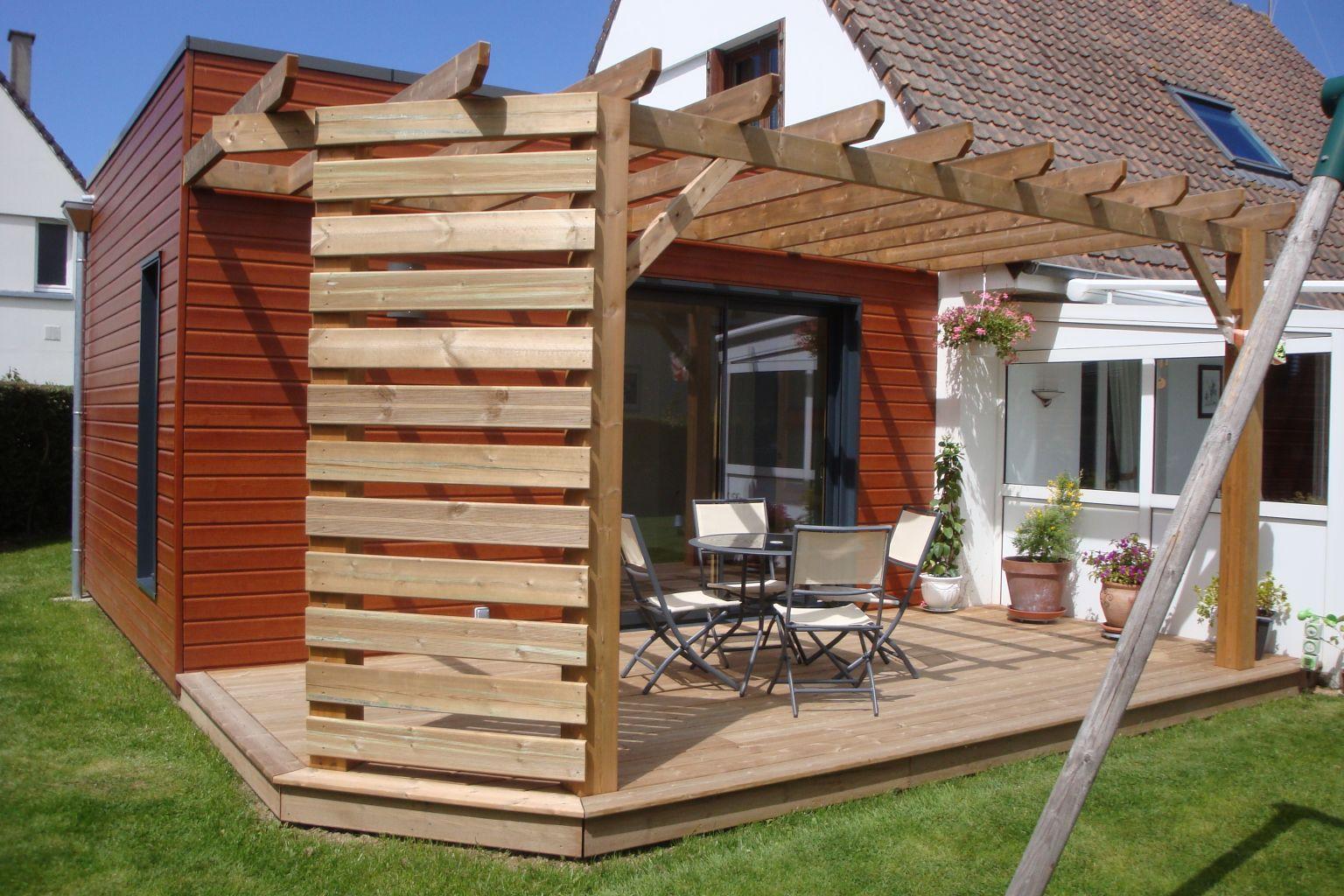 pergola terrasse bois