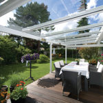 Pergola toit en verre
