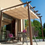 Pergola toit retractable