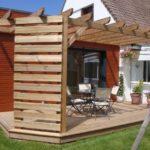 Terrasse pergola bois