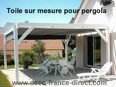 Toile pour pergola bois - Pergola bois toile coulissante ...