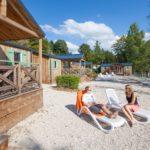 Camping chalain pergola