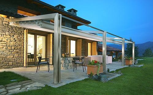 grande pergola pour terrasse. Black Bedroom Furniture Sets. Home Design Ideas
