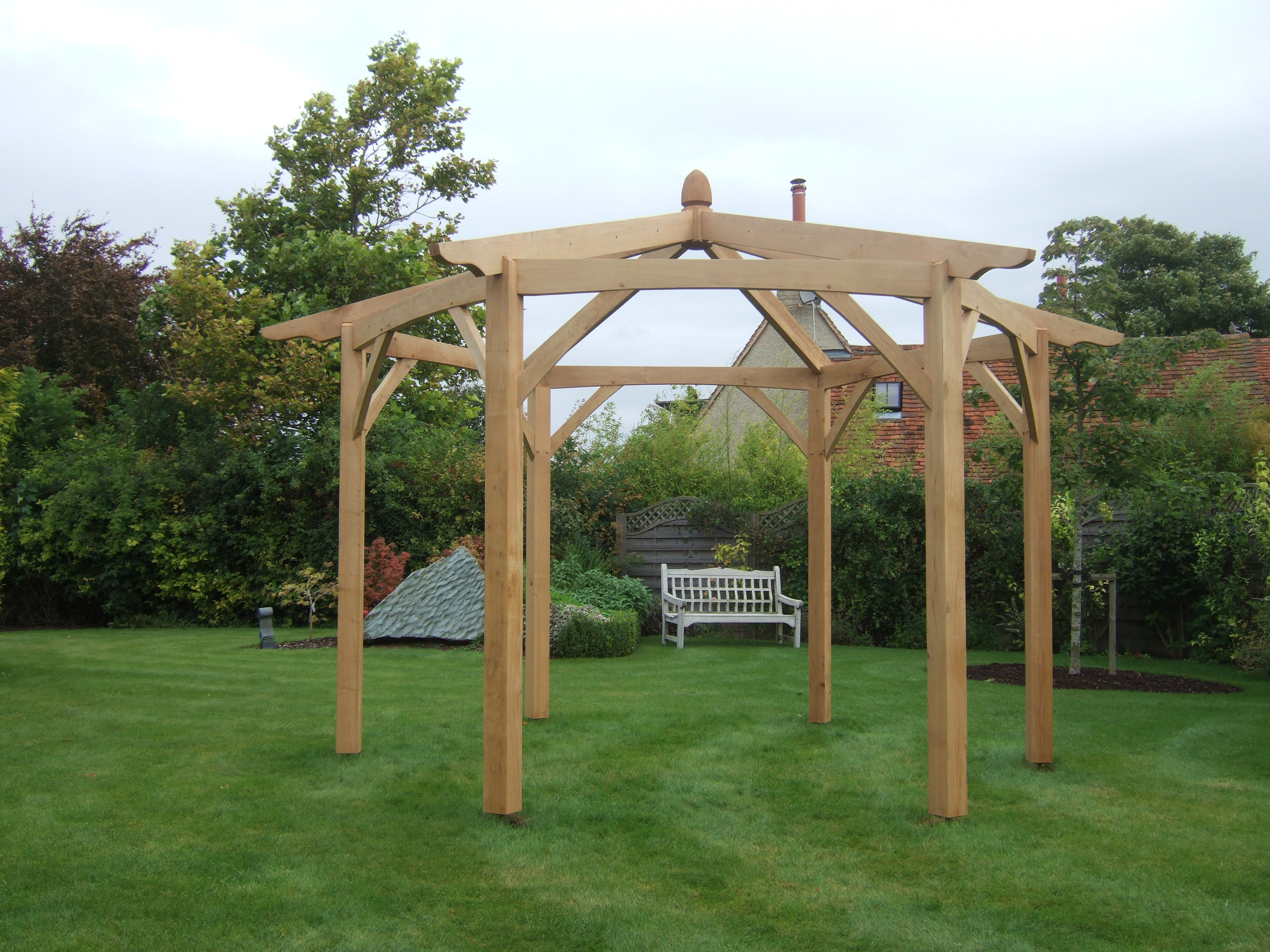 hexagonal pergola kit