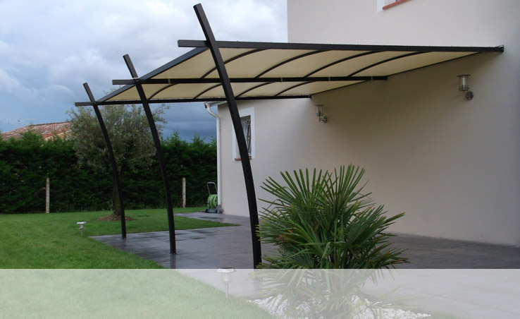 pergola murale sur mesure. Black Bedroom Furniture Sets. Home Design Ideas