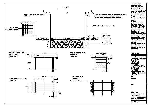 plan construction pergola. Black Bedroom Furniture Sets. Home Design Ideas