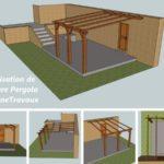 Plan d'une pergola en bois