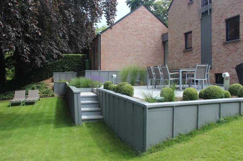 Terrasse sur lev e moderne - Construire terrasse surelevee ...