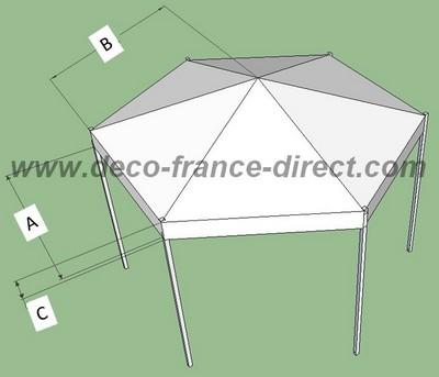 toile de toit pour tonnelle hexagonale