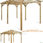 Tonnelle de jardin en bois pas cher