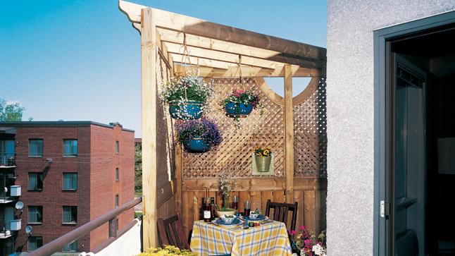 tonnelle pour petit balcon